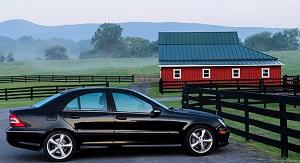 bil på landet